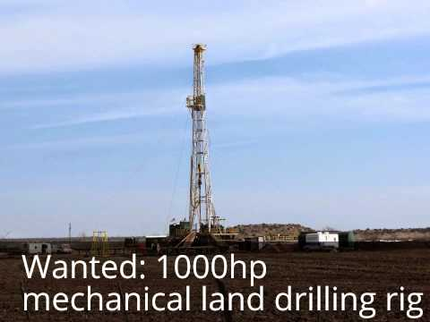 Want to buy 1000hp mechanical land drilling rig.