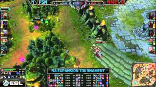 Fusion (Maknoon Poppy) VS NME (Wolfe Syndra) Game 2 Highlights - 2015 NA LCS Expansion Tournament