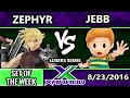 S@X 164 - AOH   Jebb (Lucas) Vs. Zephyr (Cloud) Losers Semis - Smash Wii U - Smash 4