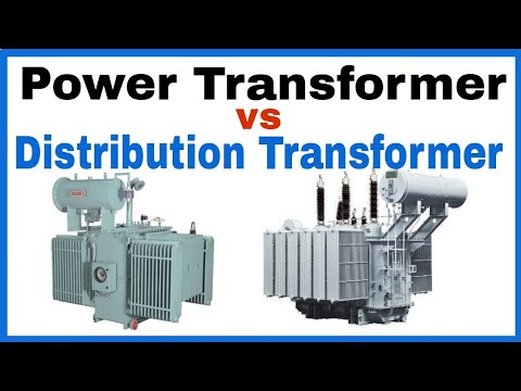 Difference between Power Transformer and Distribution Transformer in Hindi.