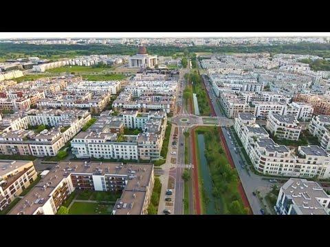 Miasteczko Wilanów - ul. Klimczaka - park linearny