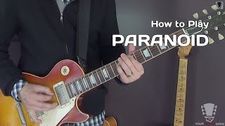 How to Play Paranoid by Black Sabbath - Guitar Lesson