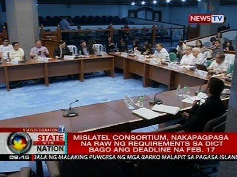 Mislatel consortium, nakapagpasa na raw ng requirement sa DICT bago ang deadline na Feb. 17