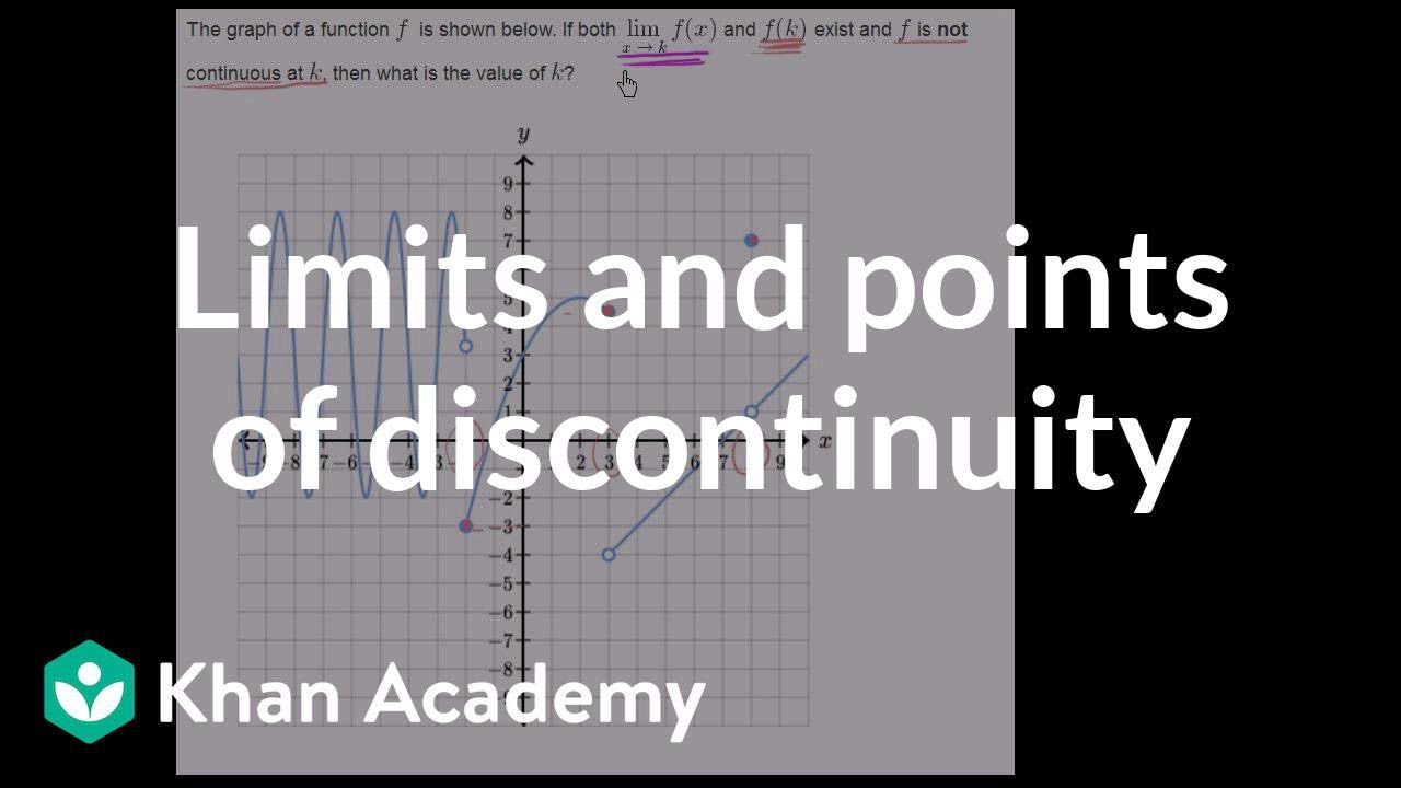 Discontinuity points challenge example (video) | Khan Academy