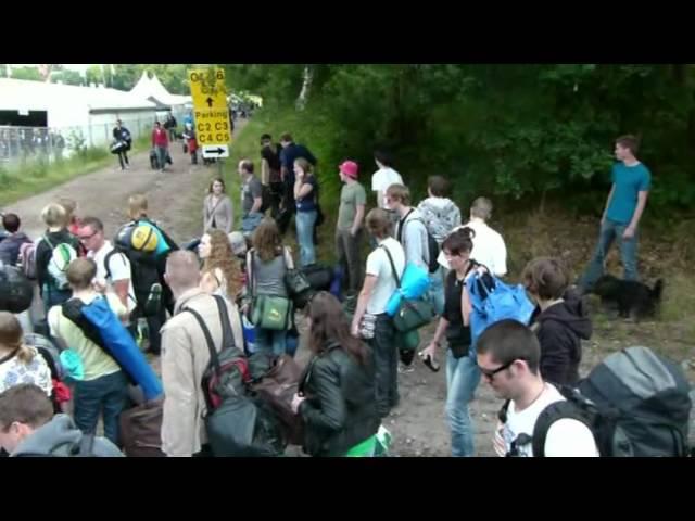 Pinkpop 2011 - aankomst in Landgraaf