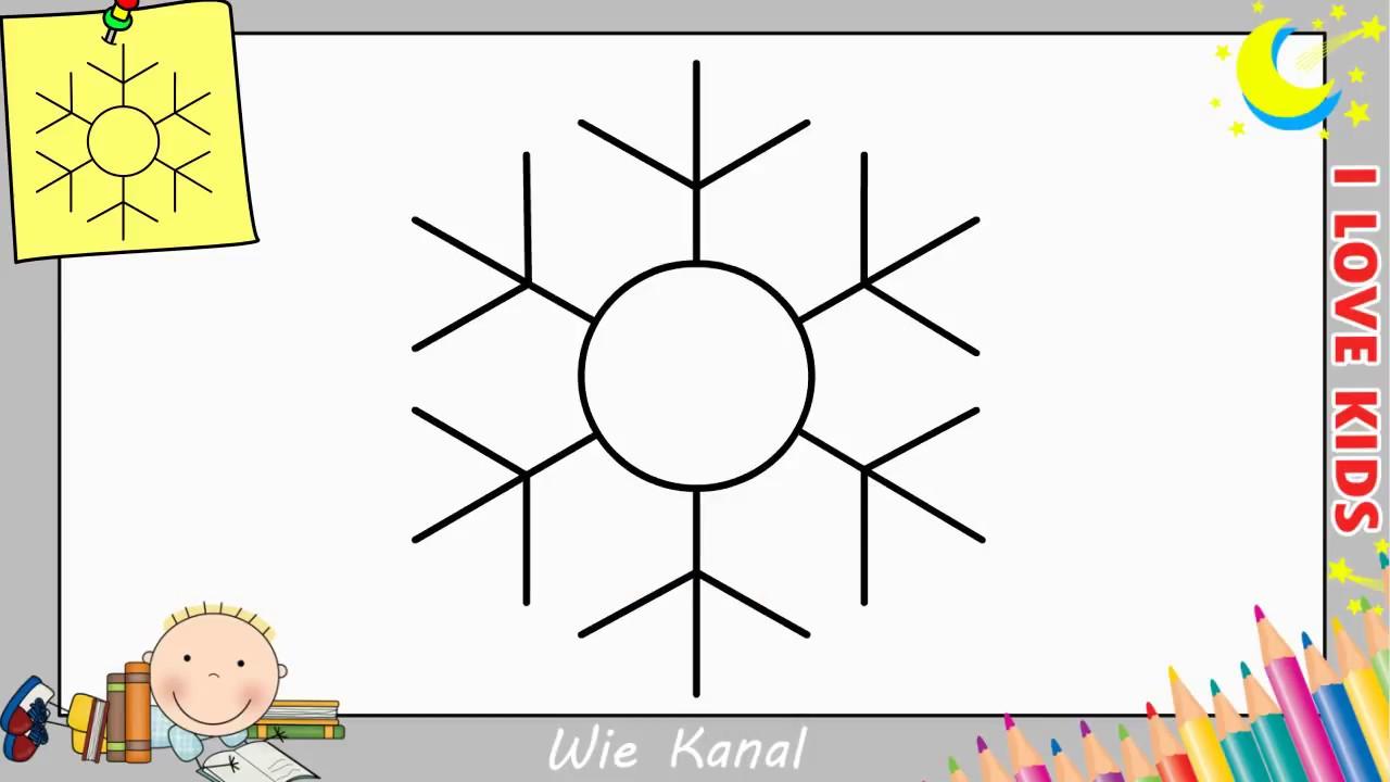 schneeflocke zeichnen lernen einfach schritt f r schritt weihnachten youtube. Black Bedroom Furniture Sets. Home Design Ideas