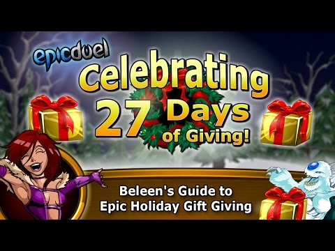 Beleen's Tutorial On Epic Duel's New Game Feature: Holiday Gift Giving And Free Presents