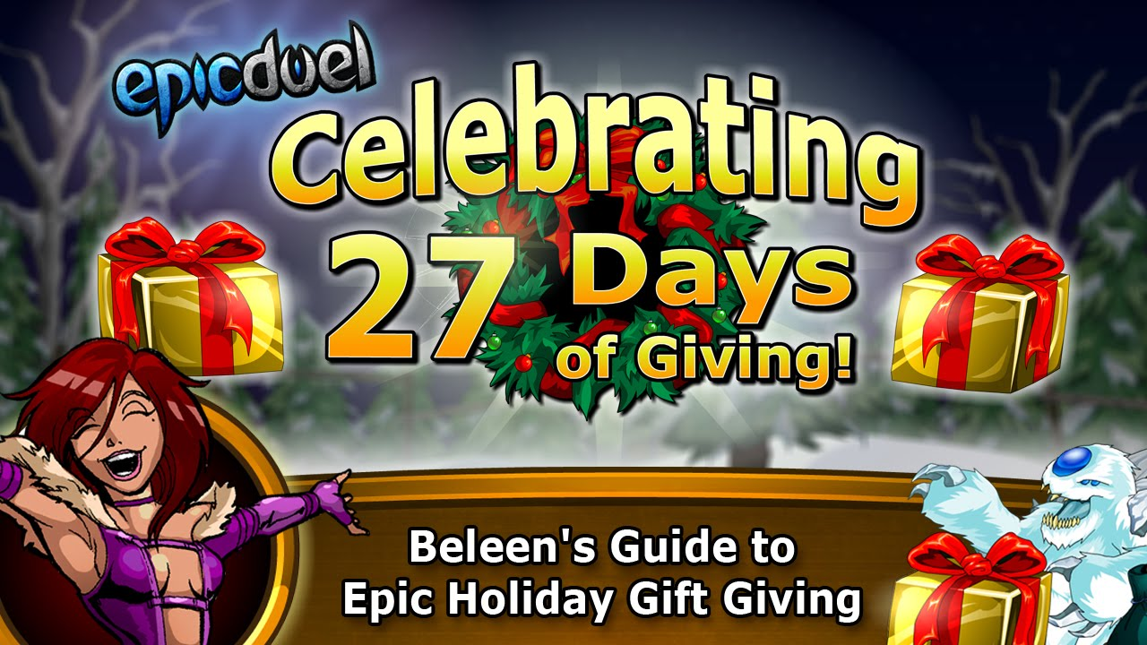 Beleens tutorial on epic duels new game feature holiday gift beleens tutorial on epic duels new game feature holiday gift giving and free presents youtube negle Choice Image