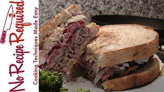 Ny Jets Reuben Burger - Nfl Burgers - Noreciperequired.com