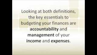 Easy Money Management Tools: Budget and Finance Tool 4 Success Video