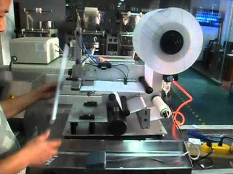 semi automatic label dispenser machine