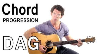 Beginner Guitar Chords 5 - Strumming D, A, and G in a Chord Progression Mp3