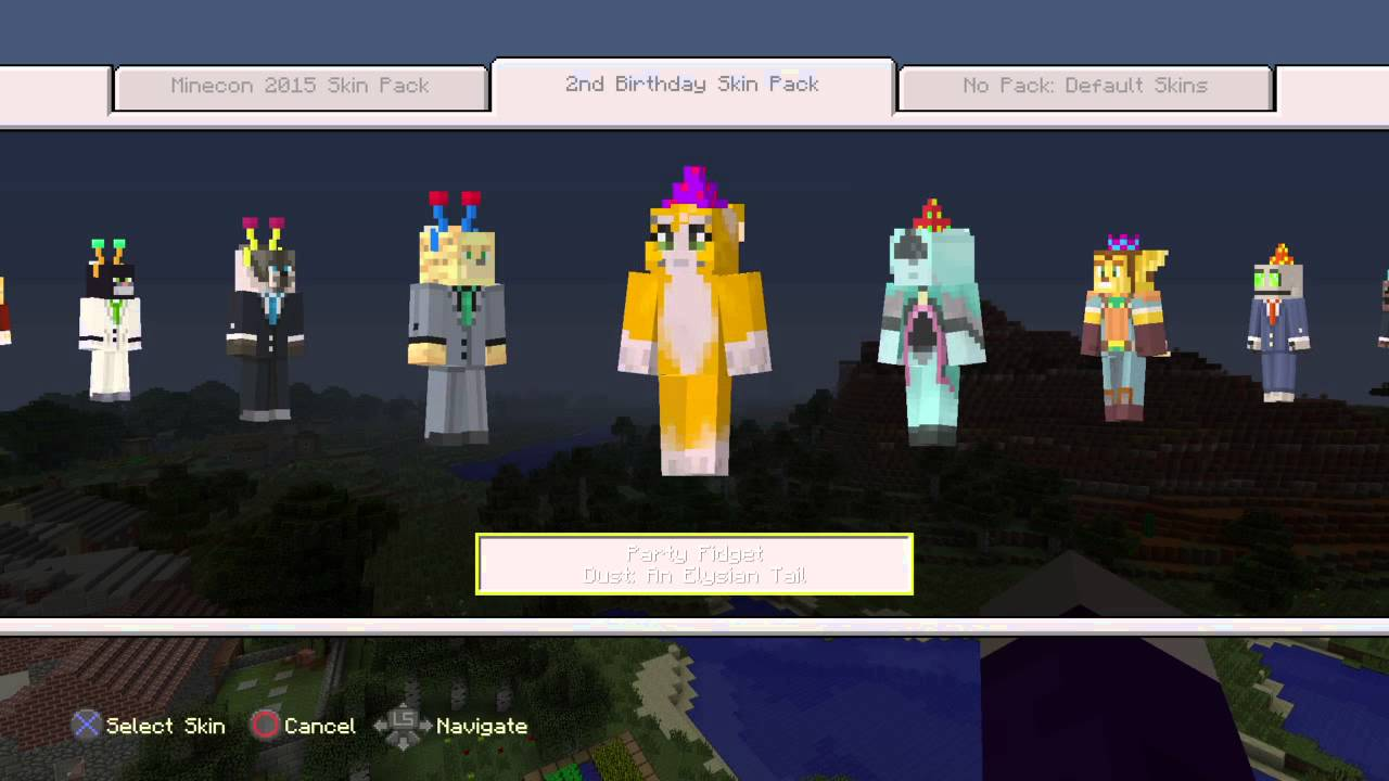 minecraft ps4 birthday skin pack