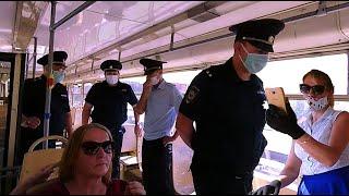 Без маски не поедем.  Масочный беспредел в трамвае.