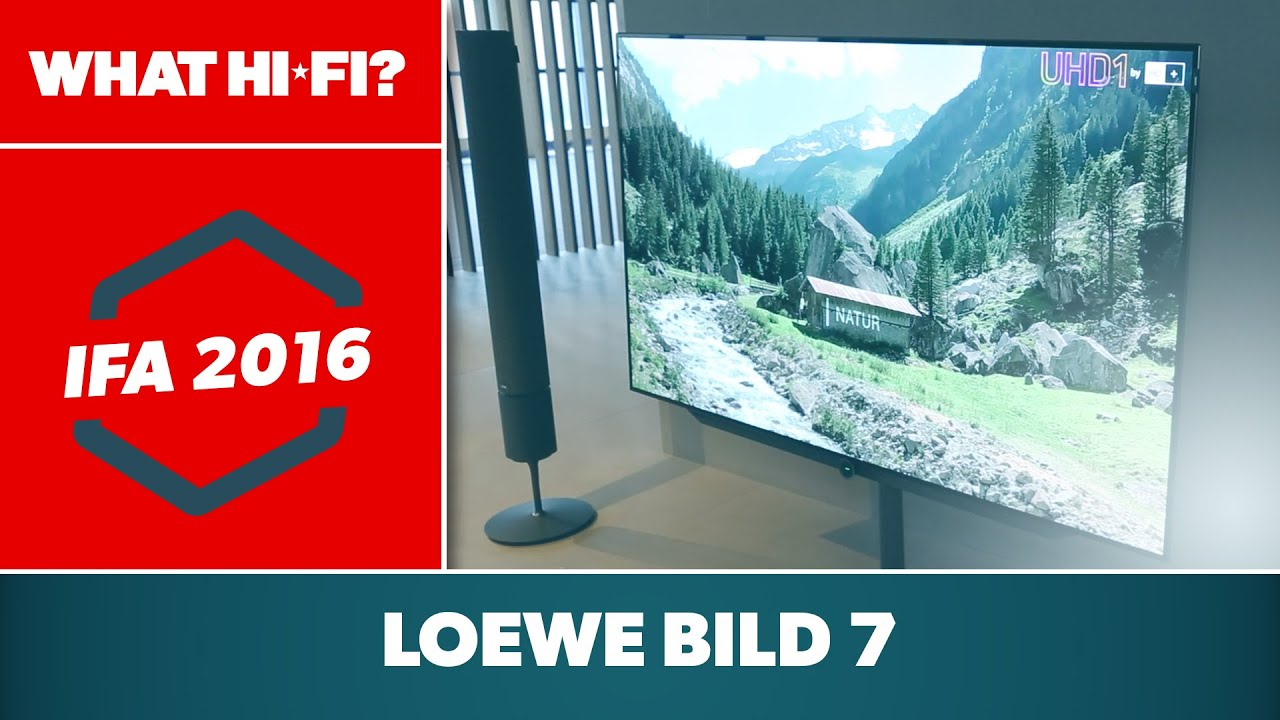 loewe bild 7 4k oled tv first look ifa 2016 youtube. Black Bedroom Furniture Sets. Home Design Ideas