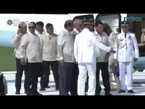Duterte arrives at House of Representatives for Sona