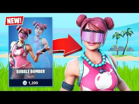 New BUBBLE BOMBER Skin! (Fortnite Battle Royale)