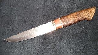 Нож из мехпилы Р3М3Ф2 , рукоять из дуба