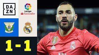Karim Benzema rettet die Ehre der Königlichen: Leganes - Real Madrid 1:1 | La Liga | DAZN Highlights