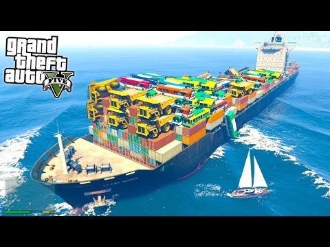 IS IT POSSIBLE TO SINK THIS GIANT SHIP?! (GTA 5 Mods)