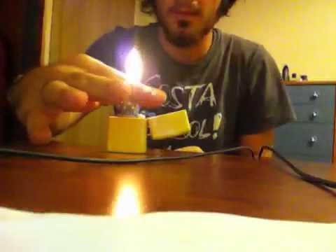 Zippo trick with music rhythm