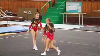 Первенство ДЮСШ по спортивной акробатике женские групповые выступления программа 2 спорт.  разряда