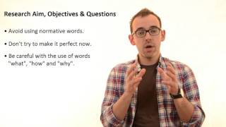 1.7 Research Aim, Questions and Objectives(Do you like this video? Check out my latest course and get 20% off unlimited learning on Curious!, 2016-03-17T10:18:53.000Z)