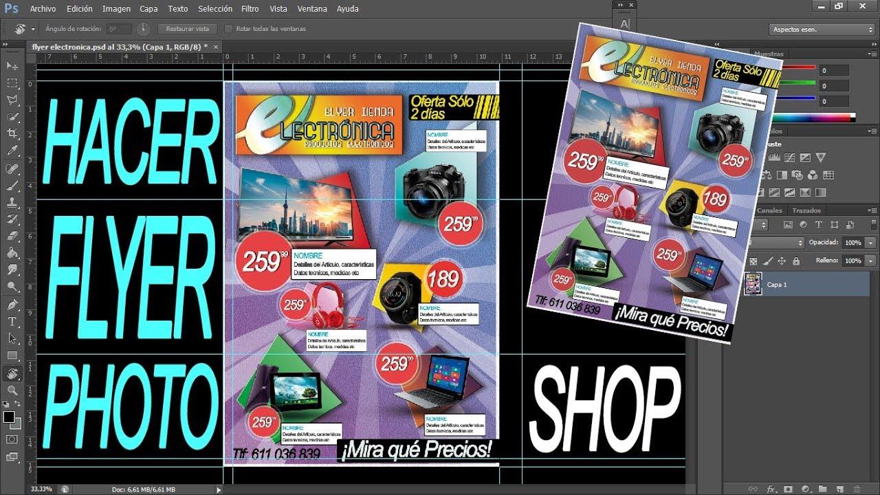 Hacer flyer catalogo productos con Photoshop CS6 - YouTube