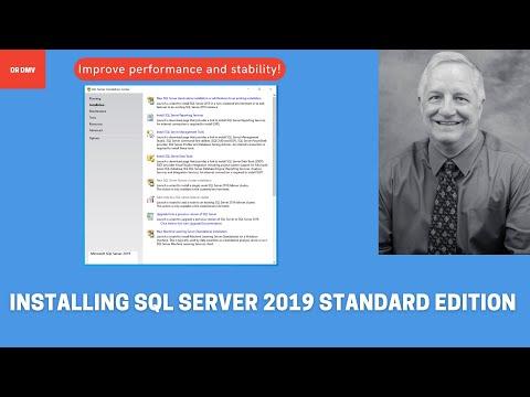 Installing SQL Server 2019 Standard Edition