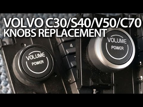 How to replace & fix knobs in Volvo C30, S40, V50, C70 (chrome tuning CCM)