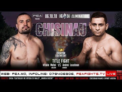 Dorel Cristian nu va putea lupta împotriva lui Vitalie Matei și a fost înlocuit cu Andrei Leuștean.