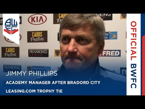 JIMMY PHILLIPS | Wanderers Academy Manager after Leasing.com Trophy tie