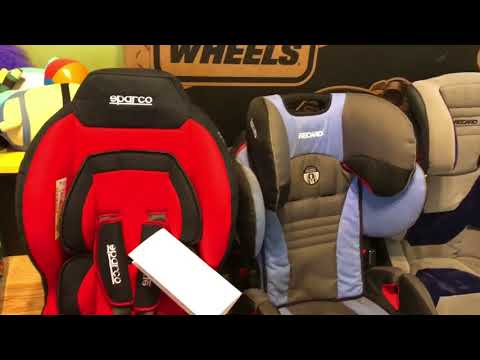 Sparco Red F5000K Baby/toddler Car Seat - Unboxing Detailed View And Install