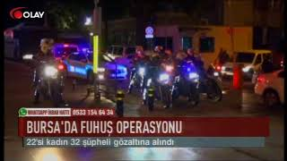 Bursa'da fuhuş operasyonu (Haber 14 09 2017)
