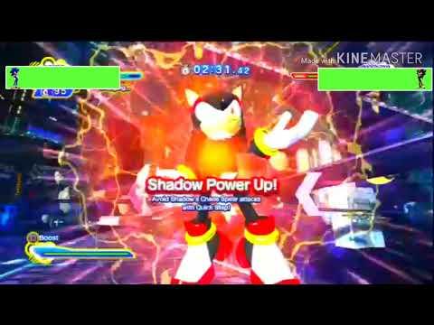 Sonic vs Shadow (Sonic Generations) with healthbars  