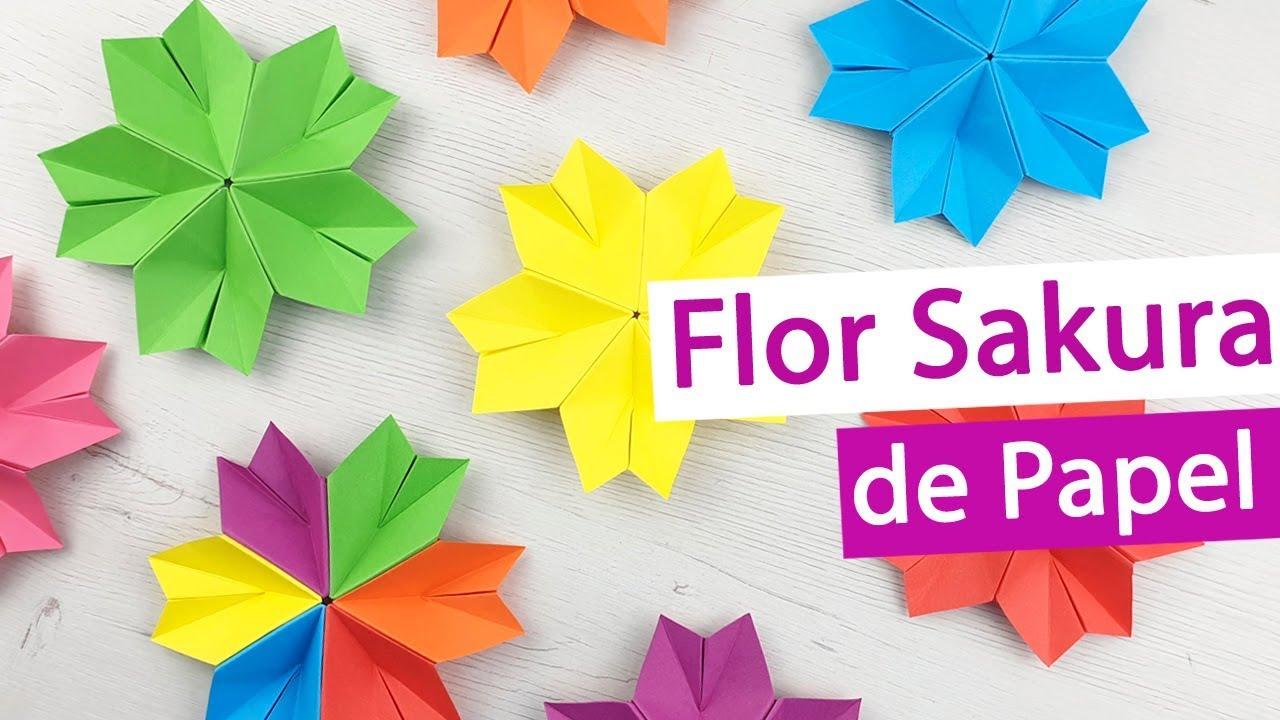 Flor Sakura De Origami Paso A Paso Y Sin Pegamento Youtube