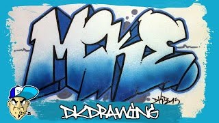 How to draw graffiti names - Mike #5