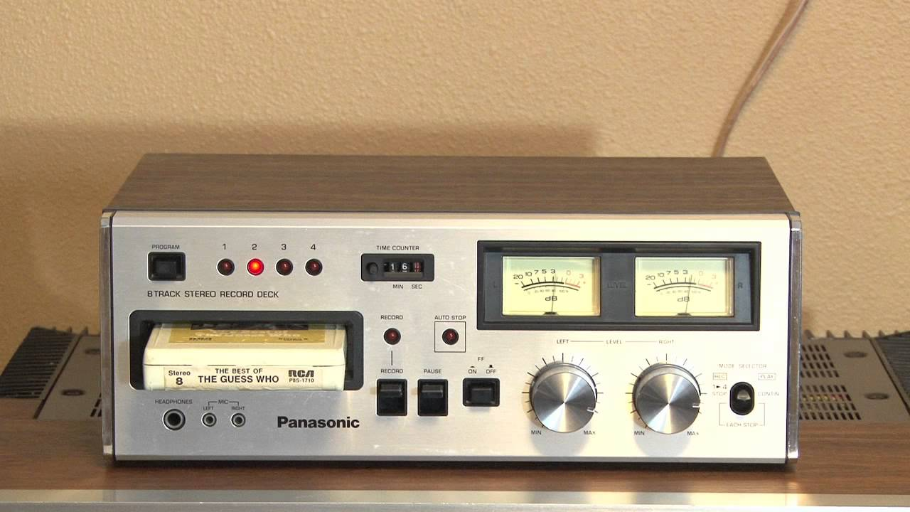 Vintage 8 Vintage Panasonic Rs 808 8 Track Tape Deck Player Recorder For Sale On Ebay 1 6 14