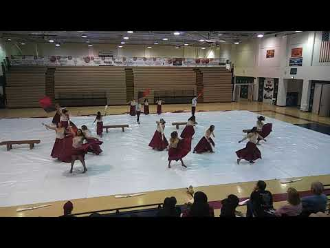 Indio High School winter guard performance @ La Quinta High school 04/20/18