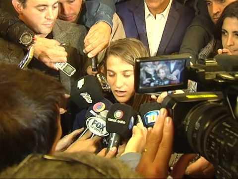 Paula Pareto fue agasajada por el gobernador de Córdoba