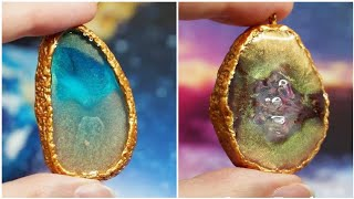 Resin GALAXY necklace DIY Ocea…