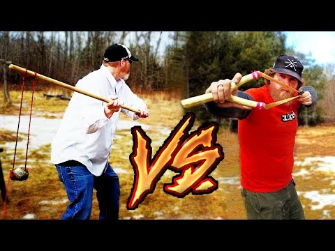 Slingshot VS. Shepherds Staff Sling