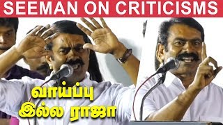 Seeman talks in detail about his latest movie