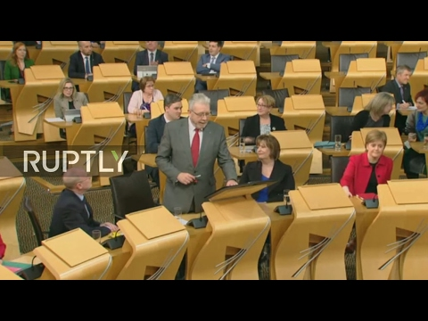 LIVE: Scottish Parliament to vote on UK government's Article 50 bill