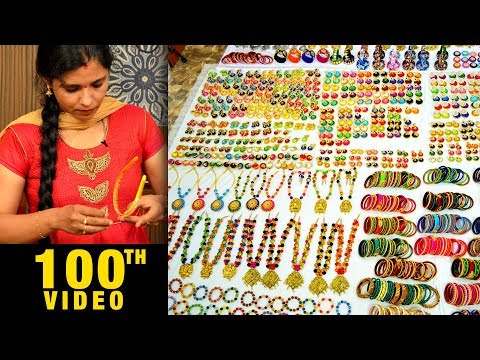 Mega Jewelry Collection | Silk Thread Necklaces | Bangles | Earrings | wholesale Factory | #DIY