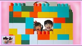 미니 유니 거대 블럭 마카롱블럭 으로 루바벨라 아기 인형에게 집 만들어 주었어요!! Color Brick Block House luvabella 로미유스토리Romiyu Story