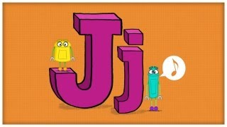 abc song the letter j jump for j by storybots