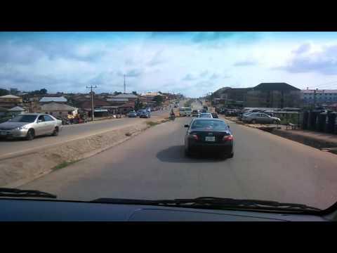Nigeria road in Abuja.