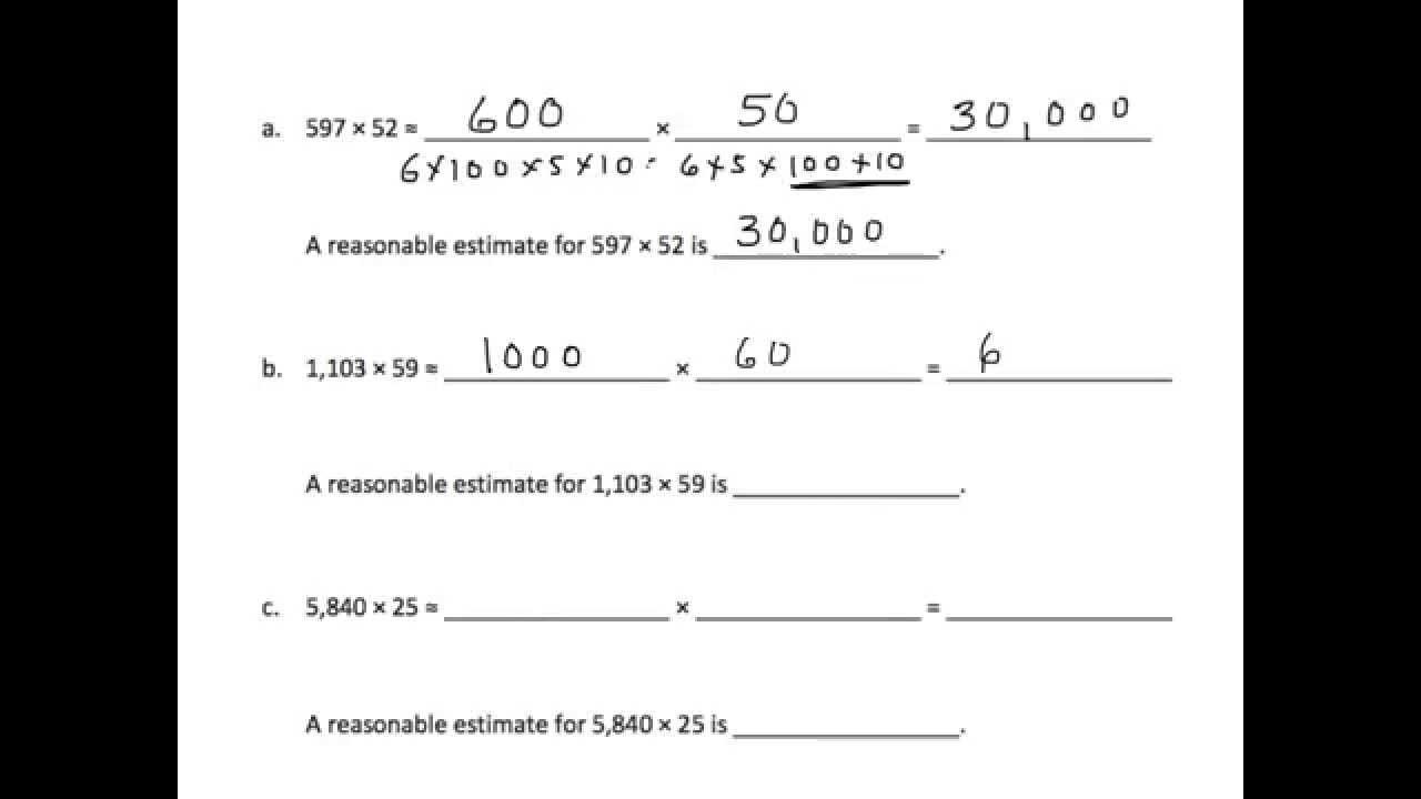 Grade 5 EngageNY Eureka Math Module 2 Lesson 2  YouTube