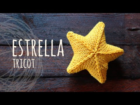 Tutorial Estrella 3D Tricot | Palitos - YouTube
